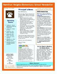 Sample Elementary School Newsletter Lexusdarkride