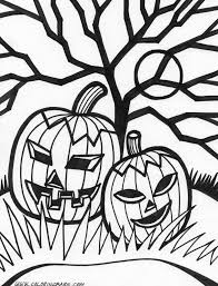 Scary Halloween Coloring Pages Free Large