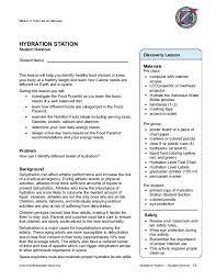 Hydration Station Mission X Train Like An Astronaut
