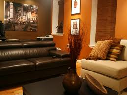 Orange And Brown Living Room Orange And Brown Living Room Home Design Ideas