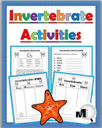 Animal Classification Chart Invertebrates Invertebrate Animal Activities Animal Classification Free