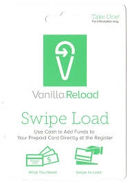 new vanilla reload card front