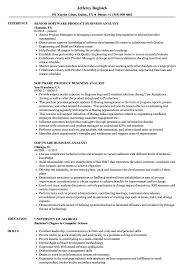 Web Analyst Resume Sample Software Business Analyst Resume Samples Velvet Jobs 24