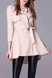 a line trench coat with belt off white m