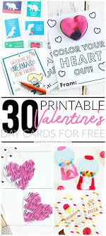 / 9+ free printable valentine cards. 30 Valentines Day Printable Cards
