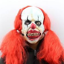 mask scary clown makeup mask s clown show headgear accessories clown mask funny wig payaso performance hot