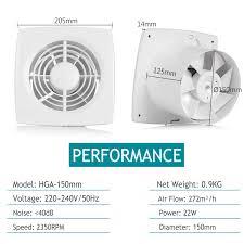 A 150mm Inline Lüfter Wand Ventilator Für Küchebadezimmer