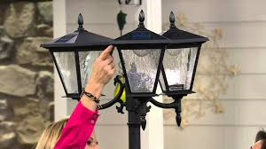 Energizer Solar 3 Head Lamp Post W Detachable Planter On Qvc