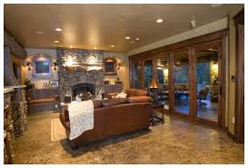 Rustic Finished Basement Ideas On Nice Rustic Finished Basement - Finished basement ceiling