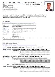 Modelo De Curriculum Vitae En Word Modelo De Curriculo Vitae Word Para Descargar Ejemplos Cv