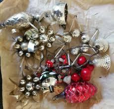 Details Zu Alter Christbaumschmuck Gablonzer Weihnachtsschmuck Watte Zapfen Pilze Glocken