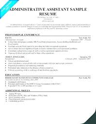 Resume Examples Administrative Assistant Magnificent Sample Resume For Administrative Assistant Position Nanomedia