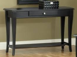 Black Sofa Table With Drawers Foter