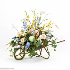Easter Floral Design Ideas Easter Flowers With Silks Spring Arrangement In Moss