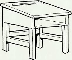 desk clipart draw pencil and in color within school table black white letters format
