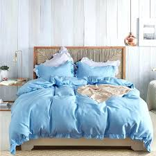 blue twin duvet cover solid color ruffles sets style orange green bedding set king queen pillowcase blue twin duvet cover light