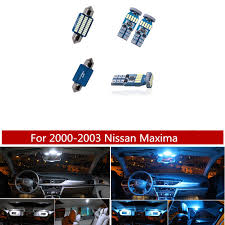 13pcs White Ice Blue Led Lamp Car Bulbs Interior Package Kit For 2000 2003 Nissan Maxima Map Dome Trunk Plate Light