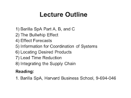 the value of information ppt video online  lecture outline 1 barilla spa part a b and c 2 the
