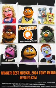 Avenue Q the Musical Poster | Broadway posters, Broadway musicals posters,  Broadway musicals
