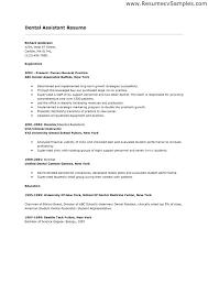 Resume Format For Dentist Dental Assisting Resumes Dental Assistant