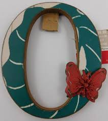 ashland boho holiday wall decor wooden letter o new