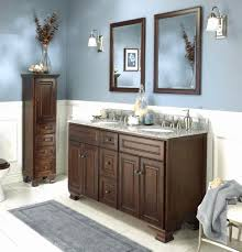 Appealing brown White Bathroom Cabinets With Dark Countertops Best
