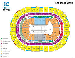 Thorough Ppg Paints Seating Chart Hockey Ppg Paints Arena