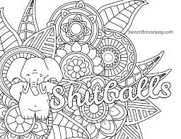 free coloring pages to download. Unique Coloring Free Printable Adult Swear Word Coloring Pages Download In To