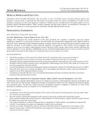 healthcare executive resume effective medical operations executive resume  sample with professional experience and education background best