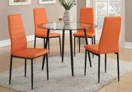 poundex pdex f1368 dining chair orange