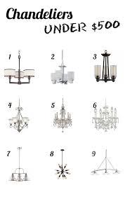 chandeliers under 500