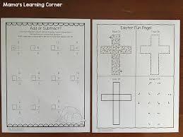 Christian Easter Worksheets for Kindergarten and First Grade ...