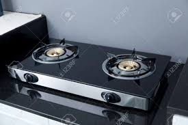 Modern gas stoves Sided Gas Close Up Of Brand New Modern Gas Stove On Counter Top In Contemporary Modern Home 123rfcom Close Up Of Brand New Modern Gas Stove On Counter Top In