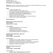 Barista Resume Sample Barista Resume Sample Objective Cash Register First Job Resumes 60