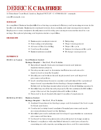Resume For A Business Analyst Business Analyst Resume Business