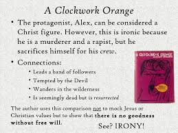 chapter ironies a clockwork orange