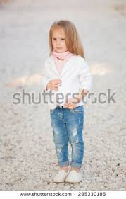 image trendy baby. Beautiful Trendy Baby Girl With Blonde Hair Outdoors. Little 2-3 Year Old Image