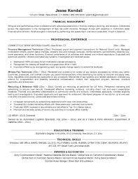 Finance Internship Resume Example Objective Management Template