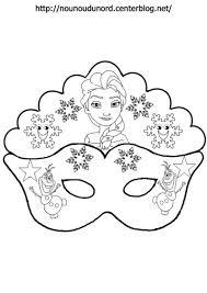 Masque Reine Des Neiges Pour Colorier Jpg Masopust Pinterest