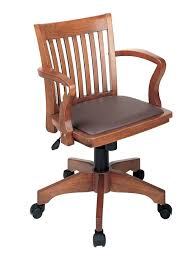 armless wood office chair with wheels. amazon.com: office star deluxe wood bankers desk chair with brown vinyl padded seat, fruit wood: kitchen \u0026 dining armless wheels g