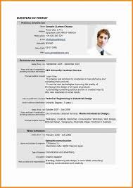 Cv Resume Format Lcysne Com