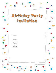 Birthday Invitation Party 40 Free Birthday Party Invitation Templates Template Lab