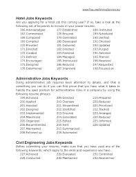 Resume Keywords Magnificent Key Resume Words Key Resume Words Resume Key Phrases For Resume