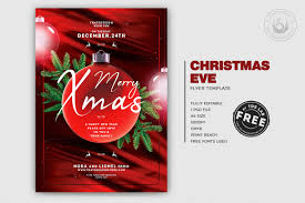 Editable Flyer Template Christmas Eve Free Psd Flyer Templates Freebies Layouts