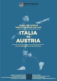 Comune di Preganziol » EURO 2020 – EUROPEI DI CALCIO …. IN ARENA – ITALIA  VS AUSTRIA