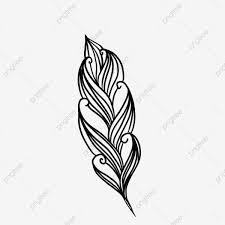 Feather Graphic Design Feather Decoration Graphic Design Black And White Decorative