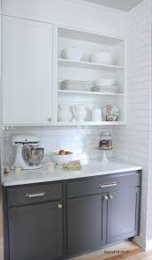 kitchen cabinet colors before after mid century modern redo best white paint for kitchen cabinets