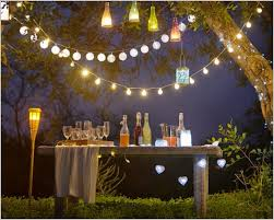 backyard party lighting ideas. Strings Of Outdoor Party Lights The Best Option Lighting Ideas With Decorated Garden For Backyard
