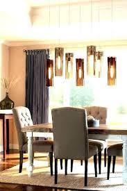 rectangular dining chandelier farmhouse kitchen lighting rectangle light room chandeliers table