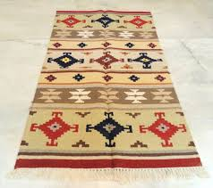 3x5 feet red blue kilim rug runner hand knotted hand wove
